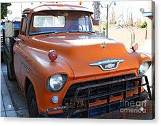 Old American Chevy Chevrolet Truck . 7d10669 Acrylic Print by Wingsdomain Art and Photography