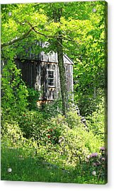 Old Barn Acrylic Print by Sara Walsh