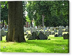 Old Cemetery In Boston Acrylic Print by Elena Elisseeva