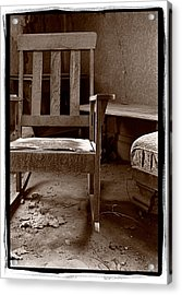 Old Chair Bodie California Acrylic Print by Steve Gadomski