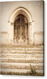Old Church Door Acrylic Print by Tom Gowanlock