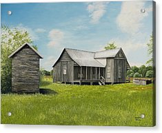 Old Clark Home Acrylic Print by Mary Ann King