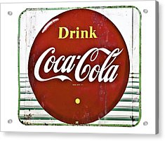 Old Coke Sign Acrylic Print by Susan Leggett