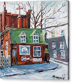 Old Corner Store Montreal By Prankearts Acrylic Print by Richard T Pranke