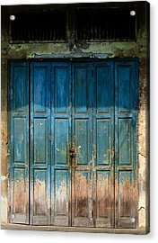 old door in China town Acrylic Print by Setsiri Silapasuwanchai