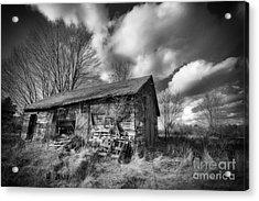 Old Dramatic Barn Hdr Acrylic Print by Joe Gee