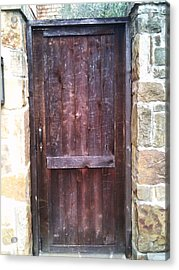 Old English Door Acrylic Print by Shawn Hughes