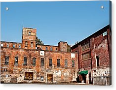 Old Factory Acrylic Print by HD Connelly