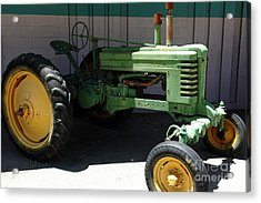 Old Farm Tractor . 5d16614 Acrylic Print by Wingsdomain Art and Photography
