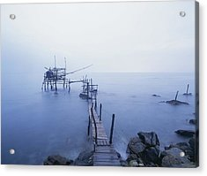 Old Fishing Platform At Dusk Acrylic Print by Axiom Photographic