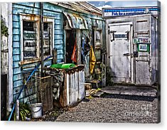 Old Fishing Store At Rawehe Acrylic Print by Avalon Fine Art Photography
