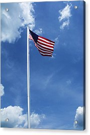 Old Glory Acrylic Print by Anna Villarreal Garbis