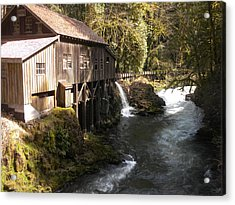 Old Grist Mill Acrylic Print by Garry Kaylor