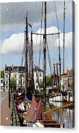 Old Harbor Acrylic Print by Steve K