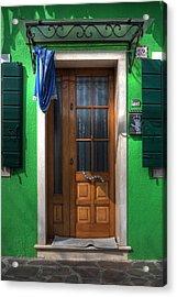 Old Italian Door Acrylic Print by Joana Kruse