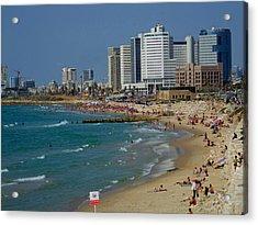 Old Jaffa Beach - Tel Aviv Israel Acrylic Print by Joshua Benk