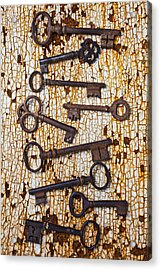 Old Keys Acrylic Print by Garry Gay