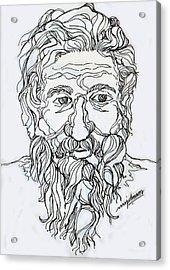 Old Man 2 Acrylic Print by Johnson Moya