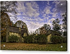 Old Manse In Autumn Glory Acrylic Print by Jose Vazquez
