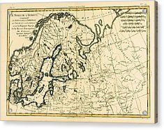 Old Map Of Northern Europe Acrylic Print by Guillaume Raynal