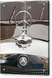 Old Mercedes Logos Acrylic Print by Odon Czintos