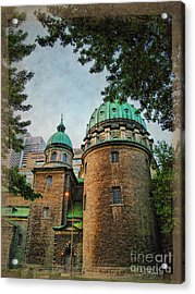 Old Montreal Church Acrylic Print by Joan  Minchak