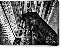 Old Piano Organ Acrylic Print by John Farnan
