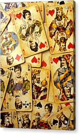Old Playing Cards Acrylic Print by Garry Gay