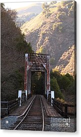 Old Railroad Bridge At Near Historic Niles District In California . 7d10745 Acrylic Print by Wingsdomain Art and Photography