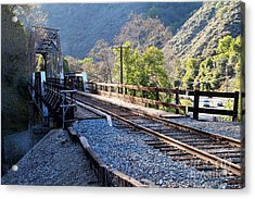 Old Railroad Bridge At Near Historic Niles District In California . 7d12743 Acrylic Print by Wingsdomain Art and Photography
