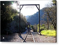 Old Railroad Bridge At Near Historic Niles District In California . 7d12747 Acrylic Print by Wingsdomain Art and Photography