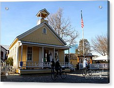 Old Sacramento California . Schoolhouse Museum . 7d11578 Acrylic Print by Wingsdomain Art and Photography