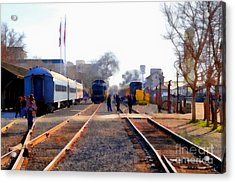 Old Sacramento Train Depot Station . 7d11636 Acrylic Print by Wingsdomain Art and Photography