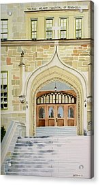 Old Scared Heart Hospital Acrylic Print by Richard Willows