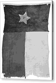 Old Texas Flag Bw10 Acrylic Print by Scott Kelley