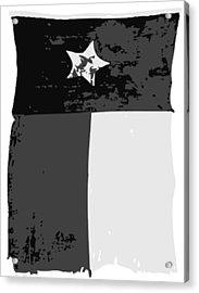 Old Texas Flag Bw3 Acrylic Print by Scott Kelley