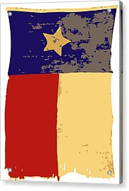 Old Texas Flag Color 6 Acrylic Print by Scott Kelley