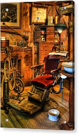 Old Time Dentist Office -  Dentistry - Dentist Chair -  Surgery - Dentist Chair Iv Acrylic Print by Lee Dos Santos