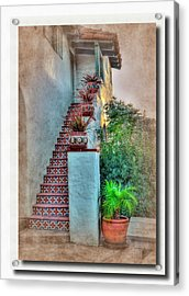 Old Town Stairs Acrylic Print by Frank Garciarubio