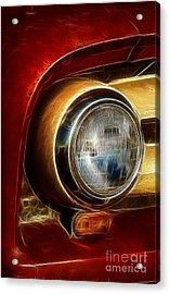 Old Truck Headlight Acrylic Print by Darleen Stry
