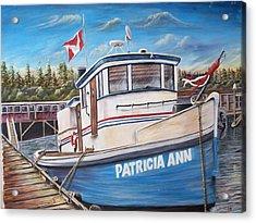 Old Tug Acrylic Print by Anna Gitchel