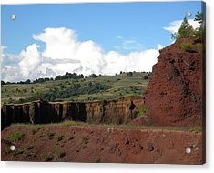 Old Volcano In Transilvania Acrylic Print by Manuela Constantin