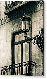 Old Window Lamp Acrylic Print by Syed Aqueel