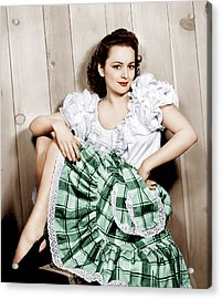 Olivia De Havilland, Ca. 1948 Acrylic Print by Everett