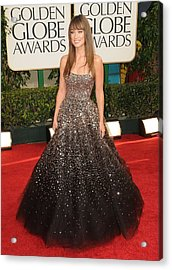 Olivia Wilde Wearing A Marchesa Gown Acrylic Print by Everett