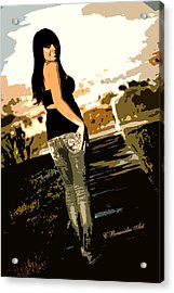 On A Walk Acrylic Print by Charles Benavidez