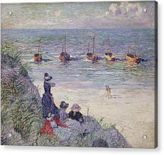 On The Dunes Acrylic Print by Theo van Rysselberghe
