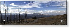 On Top Of The Mountains In Yellowstone National Park Acrylic Print by Joe Gee