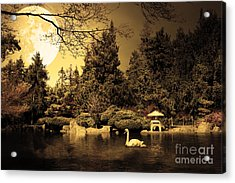Once Upon A Time Under The Moon Lit Night . Golden Cut . 7d12782 Acrylic Print by Wingsdomain Art and Photography
