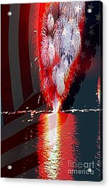 One Big Bang Acrylic Print by Cheryl Young